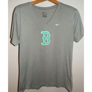 Women's XL Nike DriFit Boston Red Sox Poly T Shirt